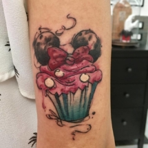 water color tattoo cap cake